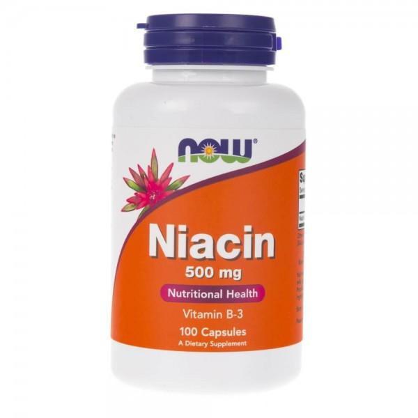 Now Foods Niacin (Niacyna) 500 mg - 100 kapsułek