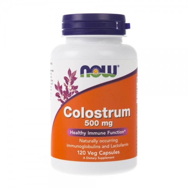 Now Foods Colostrum 500 mg - 120 kapsułek