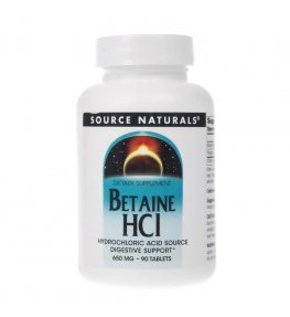 Source Naturals Betaine HCl 650 mg - 90 tabletek