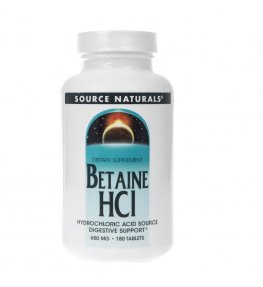 Source Naturals Betaine HCl 650 mg - 180 tabletek