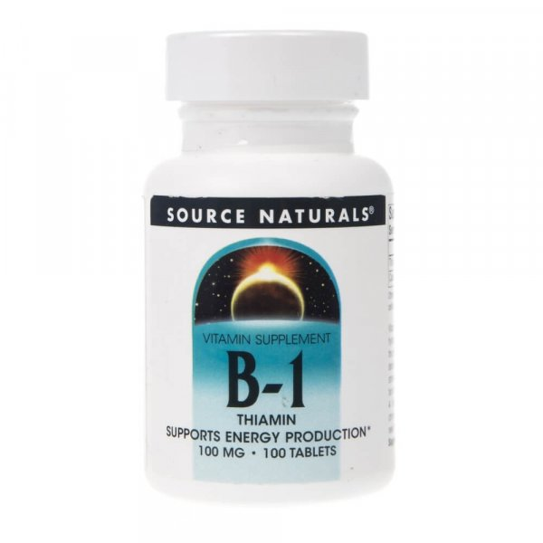 Source Naturals B-1 Tiamina - 100 tabletek