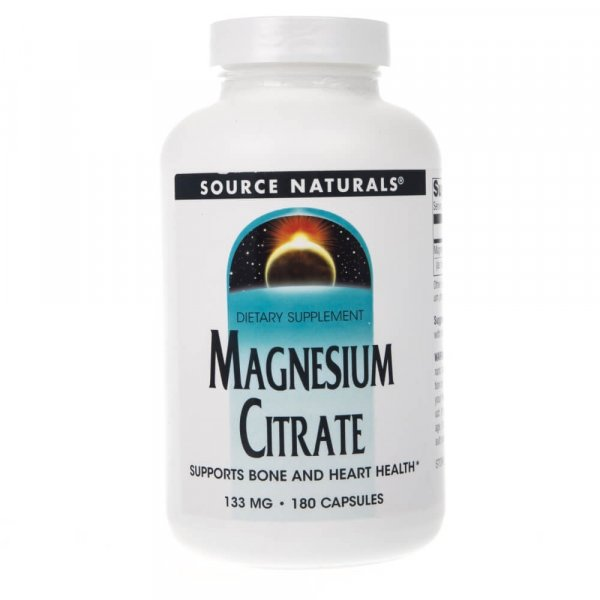 Source Naturals Cytrynian Magnezu 133 mg - 180 kapsułek