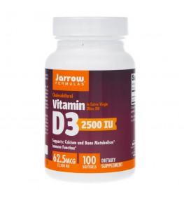 Jarrow Formulas Witamina D3 2500 IU - 100 kapsułek
