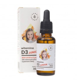 Aura Herbals Witamina D3 Junior 800 IU w kroplach - 30 ml