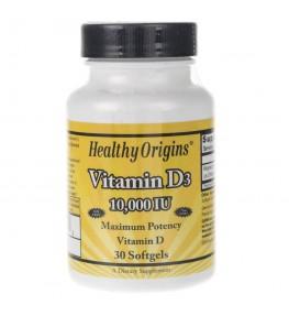 Healthy Origins Witamina D3 10000 IU - 30 kapsułek