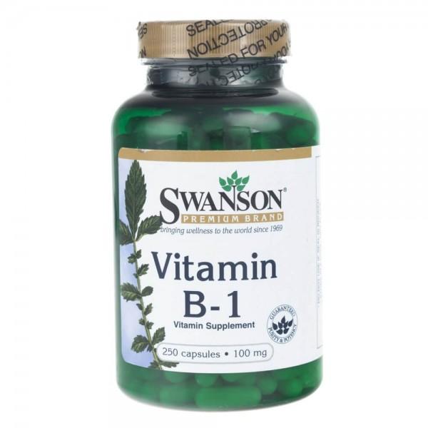 Swanson Witamina B-1 (Tiamina) 100 mg - 250 kapsułek