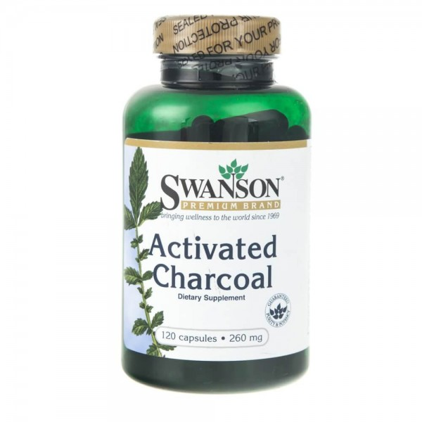 Swanson Activated Charcoal 260 mg - 120 kapsułek