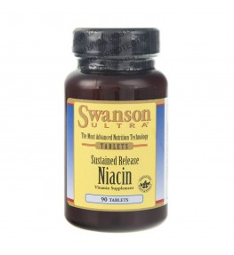 Swanson Sustained Release Niacin (niacyna) - 90 tabletek
