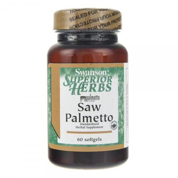 Swanson Saw Palmetto (palma sabałowa standaryzowana) 160 mg - 60 kapsułek