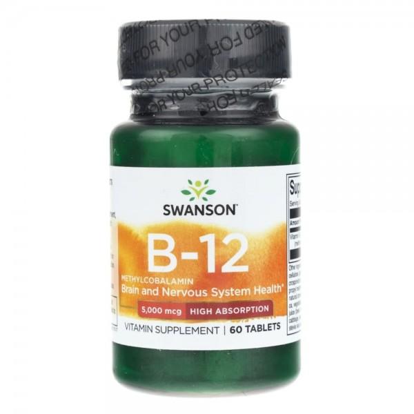 Swanson Metylokobalamina B-12 5 mg - 60 tabletek