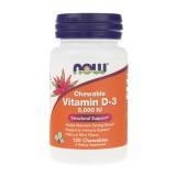 Now Foods Witamina D3 5000 IU - 120 tabletek do ssania