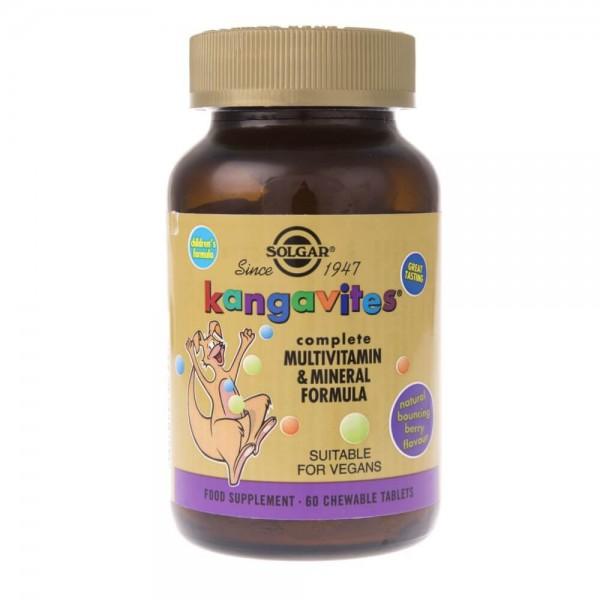 Solgar Kangavites witaminy dla dzieci (smak jagodowy) - 60 pastylek