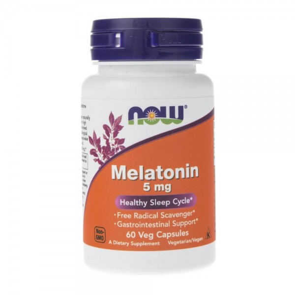 Now Foods Melatonina 5 mg - 60 kapsułek
