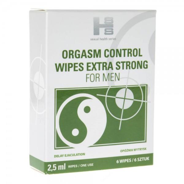 Orgasm Control wipes (chusteczki) - 6 sztuk
