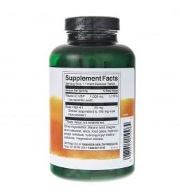 Swanson Witamina C z dziką różą o przedłużonym działaniu 1000 mg - 250 tabletek