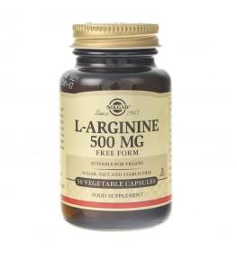 Solgar L-Arginina 500 mg - 50 kapsułek