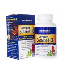 Enzymedica Betaina HCl - 120 kapsułek