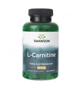 Swanson L-Carnitine (L-Karnityna) 500 mg - 100 tabletek