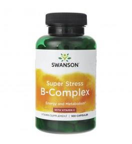 Swanson Super Stress B-Complex z Witaminą C - 100 kapsułek
