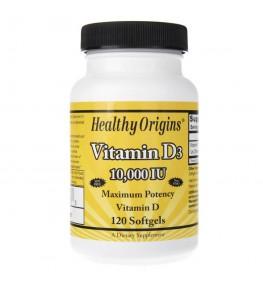 Healthy Origins Witamina D3 10000 IU - 120 kapsułek