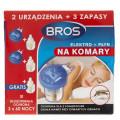 Bros Elektro + Płyn na komary (2 urządzenia + 3 zapasy)