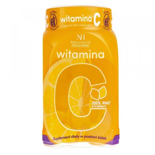 Noble Health Witamina C w żelkach - 300 g (ok. 60 żelek)