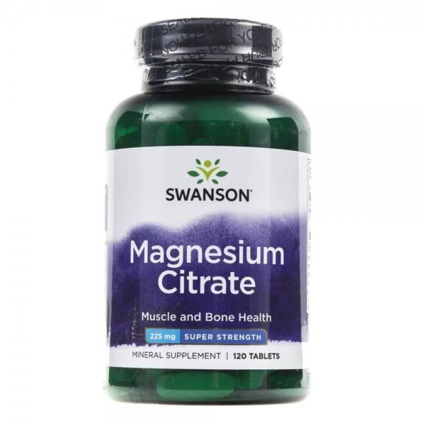 Swanson Cytrynian Magnezu 225 mg - 120 tabletek
