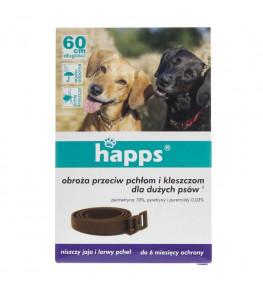Happs Obroża przeciw pchłom i kleszczom dla dużych psa 60 cm