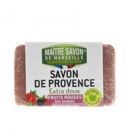 Mydło marsylskie czerwone jagody 100 g - Maître Savon