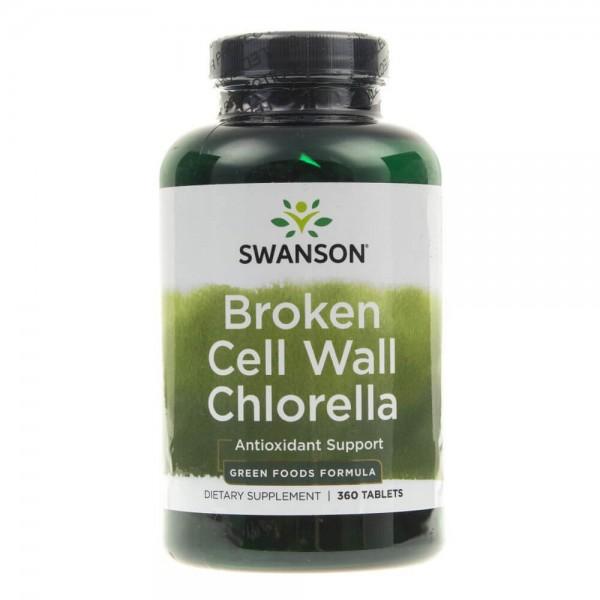 Swanson Chlorella (Rozłupane ścianki komórek) - 360 tabletek