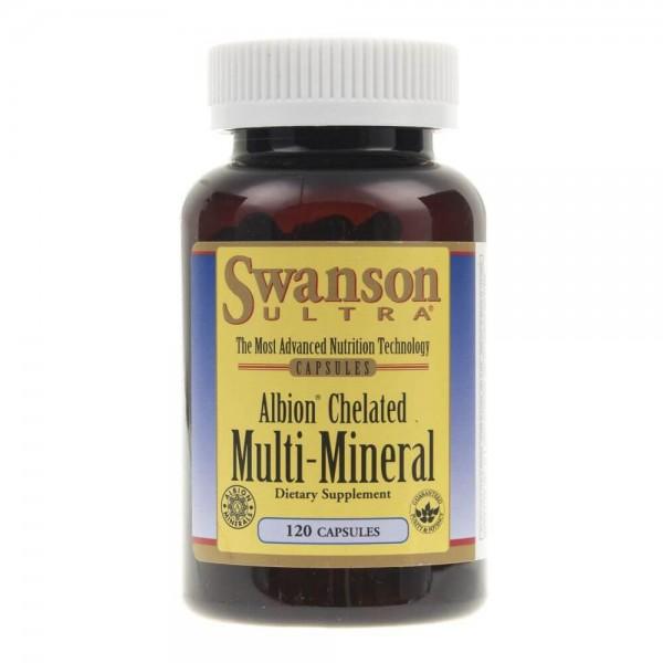 Swanson Albion Chelated Multi-Mineral - 120 kapsułek