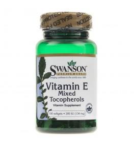 Swanson Witamina E 200 IU (mieszanka tokoferoli) - 100 kapsułek
