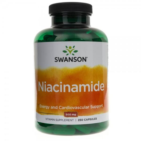 Swanson Niacinamide (Niacynamid) 500 mg - 250 kapsułek