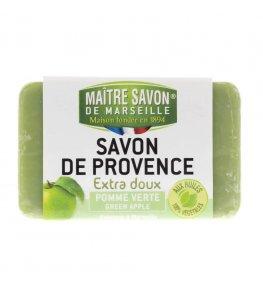 Mydło marsylskie zielone jabłuszko 100 g - Maître Savon