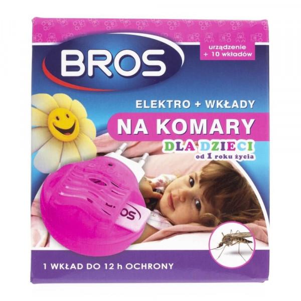 Bros Elektro + wkłady na komary dla dzieci od 1 roku życia
