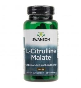 Swanson L-Cytrulina (L-Citrulline Malate Complex) 750 mg - 60 kapsułek