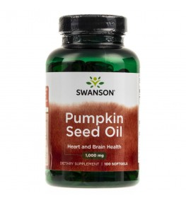 Swanson Pumpkin Seed Oil (olej z pestek dyni) 1000 mg - 100 kapsułek
