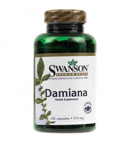 Swanson Damiana 510 mg - 100 kapsułek