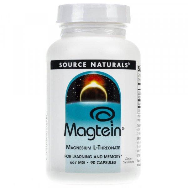 Source Naturals Magtein (L-treonian magnezu) 667 mg - 90 kapsułek