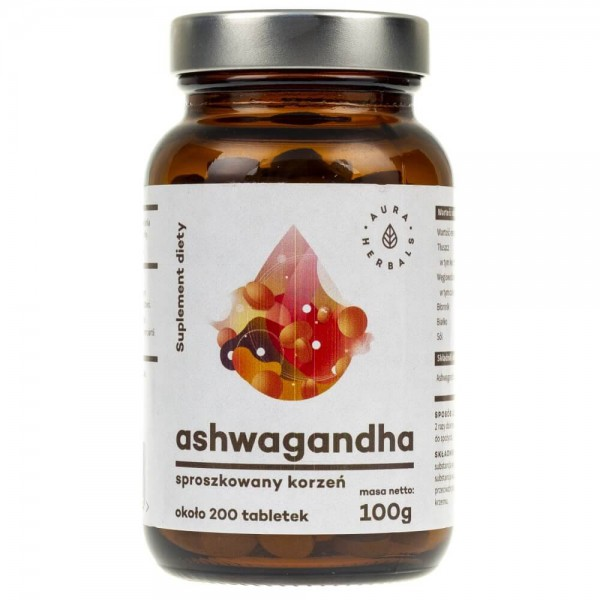 Aura Herbals Ashwagandha - 200 tabletek (100 g)