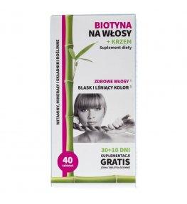 Noble Health Biotyna na włosy + krzem - 40 tabletek