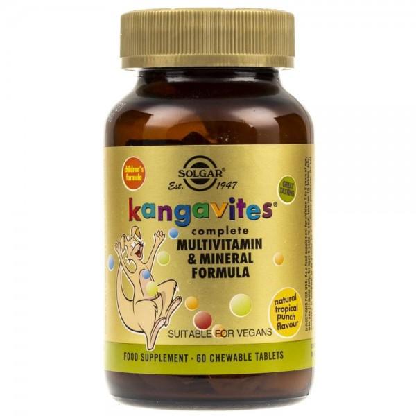 Solgar Kangavites witaminy dla dzieci (smak tropikalny) - 60 pastylek