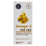 Aura Herbals Omega-3 (370 DHA) + D3(2000IU) + K2MK7 w płynie - 200 ml