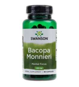 Swanson Bacopa Monnieri ekstrakt standaryzowany 250 mg - 90 kapsułek