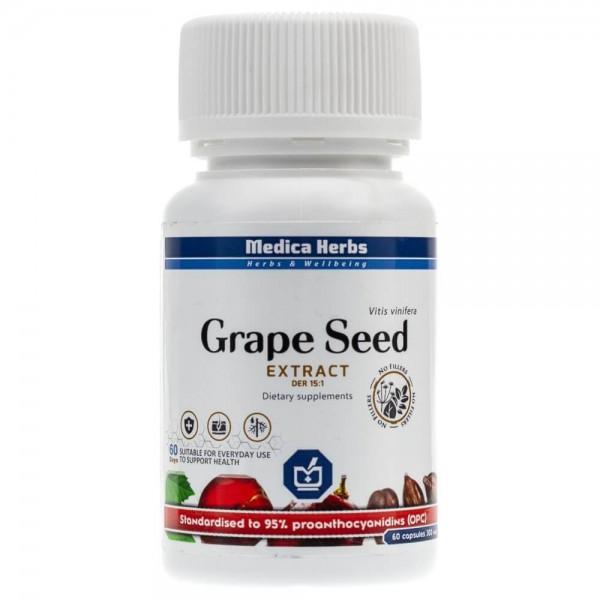 Medica Herbs Grape Seed (wyciąg z pestek winogron) - 60 kapsułek