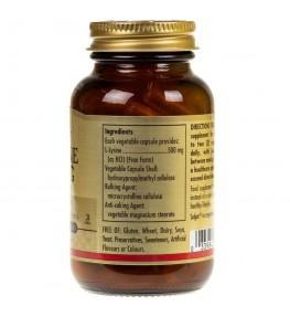 Solgar L-Lizyna 500 mg - 50 kapsułek