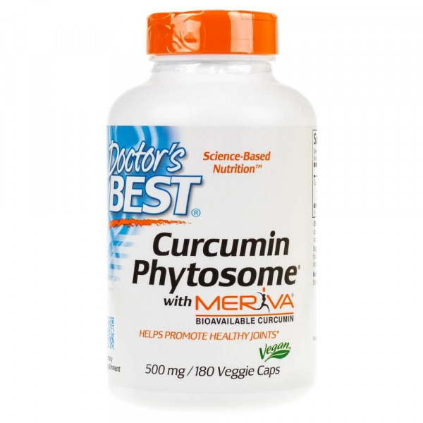 Doctor's Best Curcumin Phytosome Meriva 500 mg - 180 kapsułek