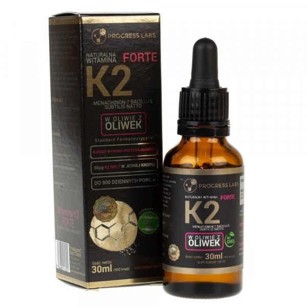 Progress Labs Witamina K2 MK-7 FORTE w kroplach - 30 ml
