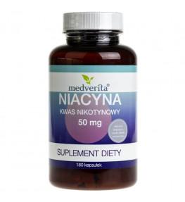 Medverita Niacyna kwas nikotynowy 50 mg - 180 kapsułek