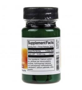 Swanson Biotyna o przedłużonym uwalnianiu 10000 mcg - 60 tabletek